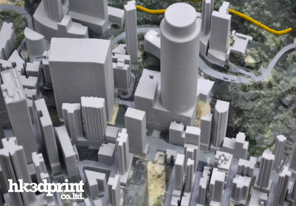 3d printing urban and landscape site model with buildings