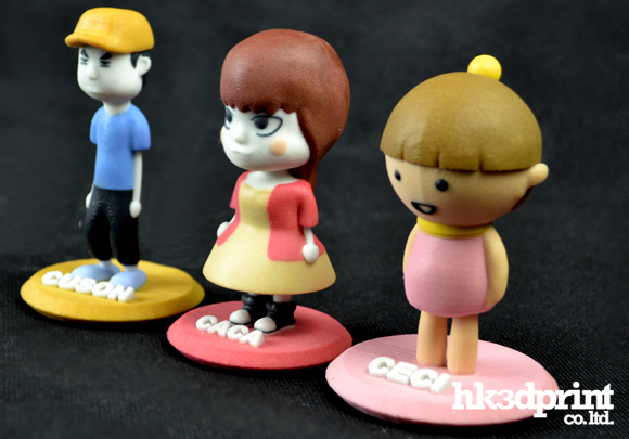 3D print cartoon toy figures or figurines